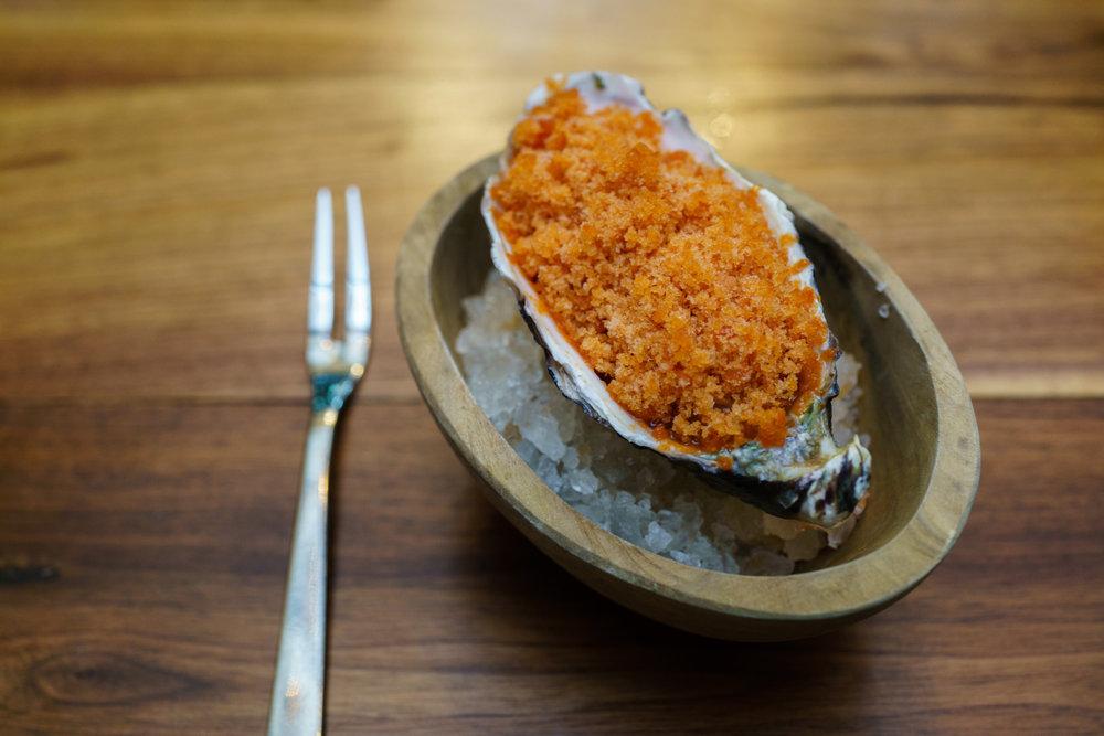 South Australian oyster, Smoked Tomato Granita