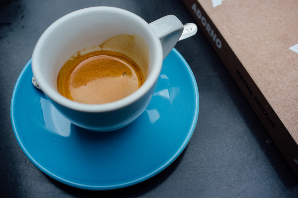 A well-pulled espresso at Express Bar