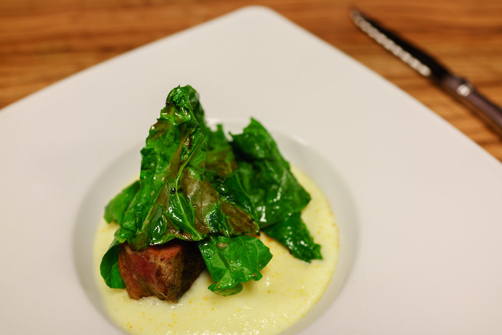 Filet, Bitter Greens and Polenta at Beef Shop