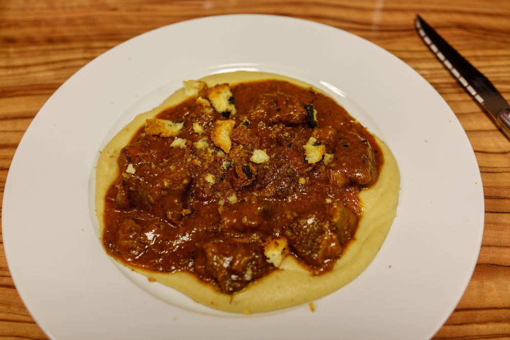 Braised Beef Ragù over Polenta at Beef Shop