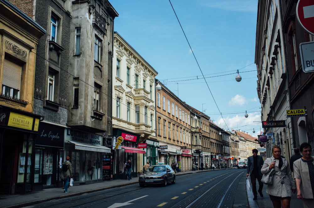 Ilicia street is one of the main thoroughfares in Zagreb