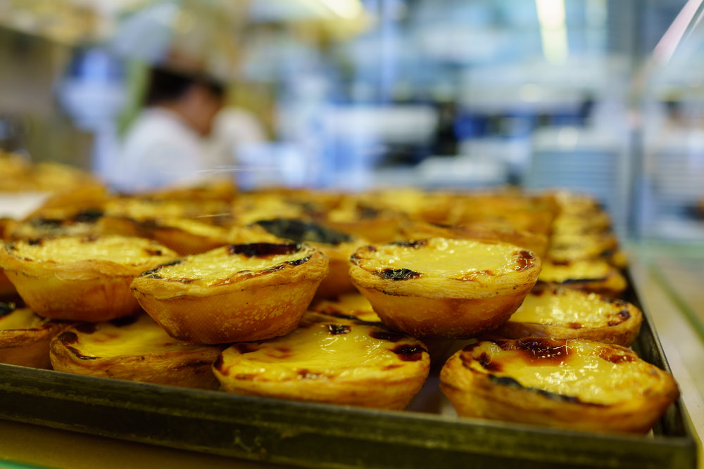 Fresh pastéis de nata at Manteigaria