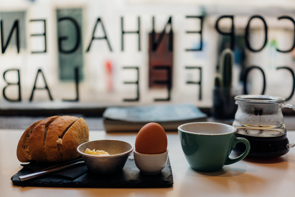 Breakfast and a pourover at Copenhagen Coffee Lab