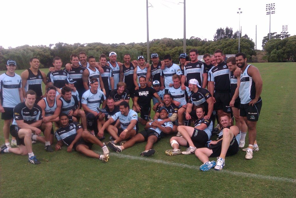 Nathan working with NRL Cronulla Sharks.