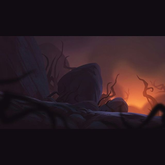 One more lava zone concept for 'Lost Words'... you may have to turn up your screen brightness for this one haha :P . . .  #art #artistsoninstagram #conceptart #digitalart #digitalpainting #artdrop #arthabit #illustration #fantasy #fantasyart #instaartist #instaart #landscapes #lava #lostwords #indiedev