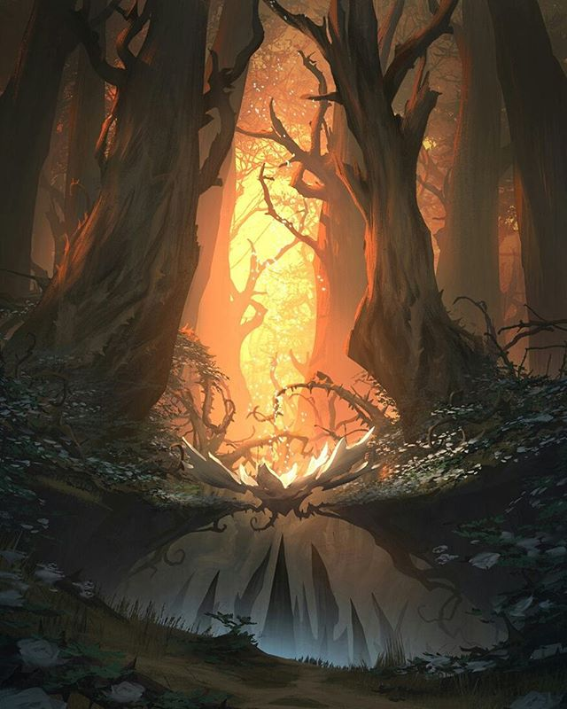 A couple more old Fable concepts! . . .  #art #artistsoninstagram #illustration #conceptart #digitalart #digitalpainting #fantasy #fantasyart #instaart #instaartist #artdrop #arthabit #magical #forest #sunset #roses #creative #fable #wacom #photoshop