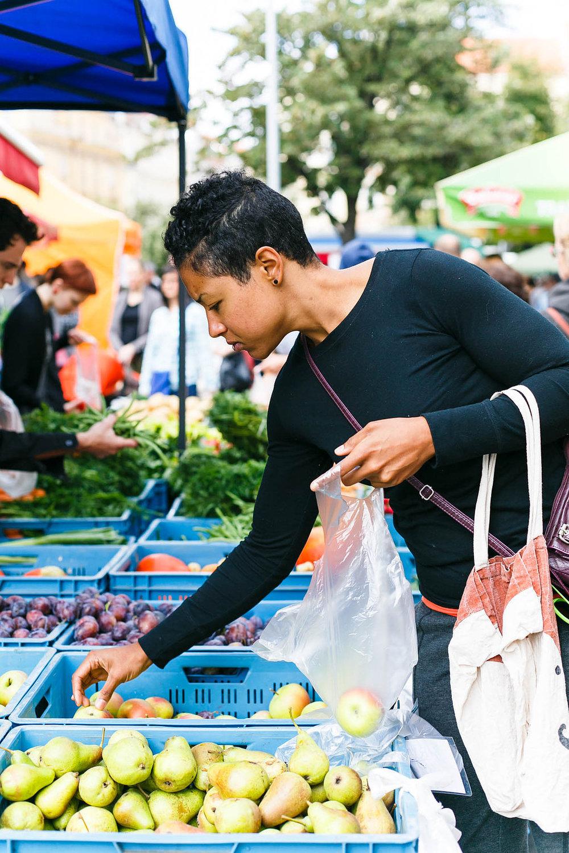 Farmer's market in Prague