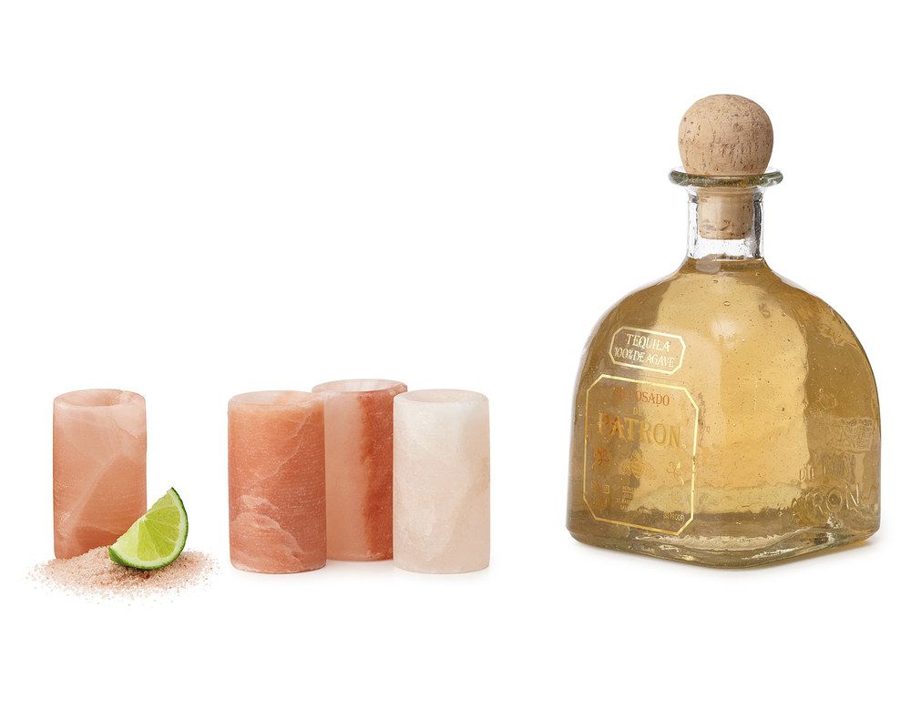 Himalayan Rock Salt Tequila Shot Glasses.