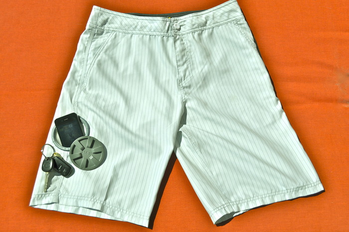 Waterproof pocket on shorts kickstarter project