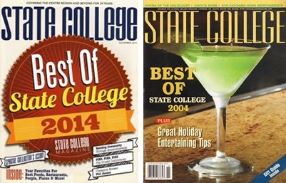 State College Magazine covers, 2014 and 2004