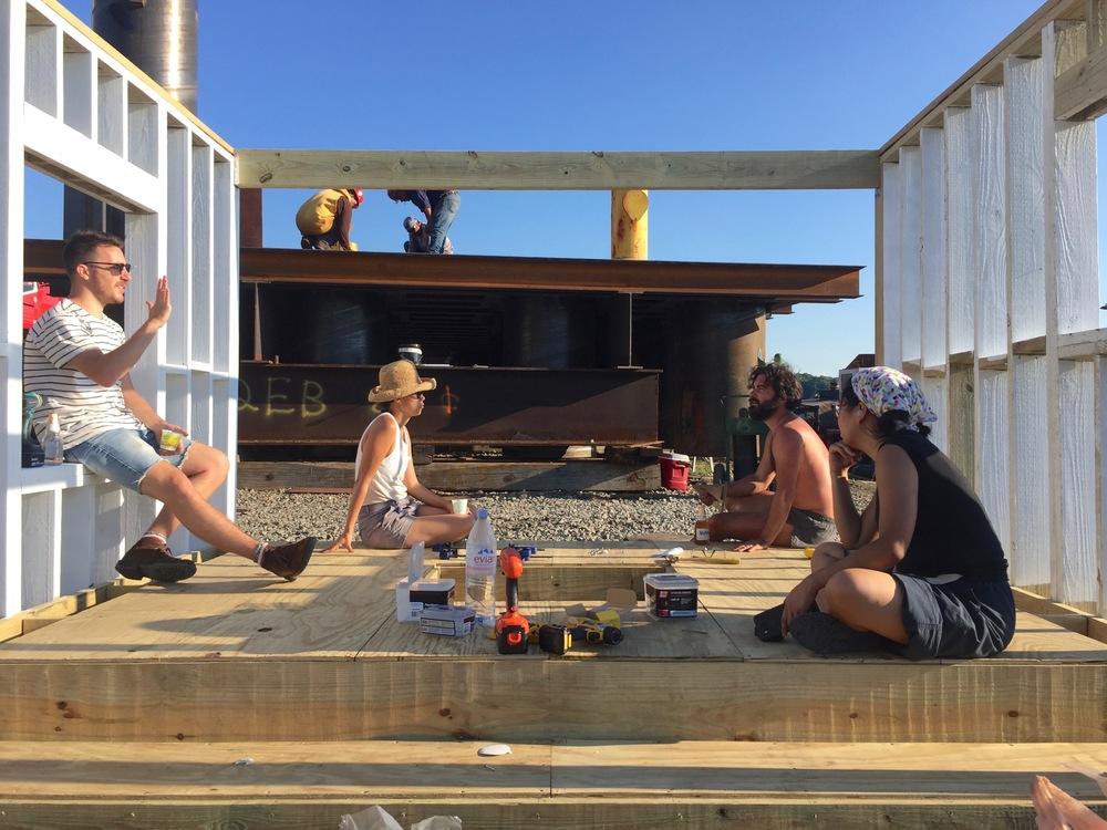 Decision-making regarding floor construction.