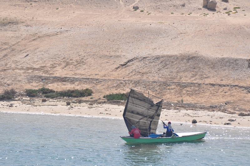 Sailing by tarp