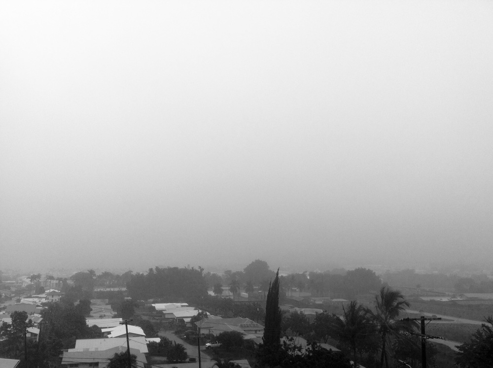 hilo town socked in.