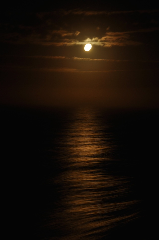 Harvest Moon At Sea