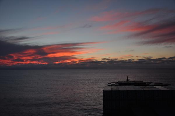 sunset off monterey