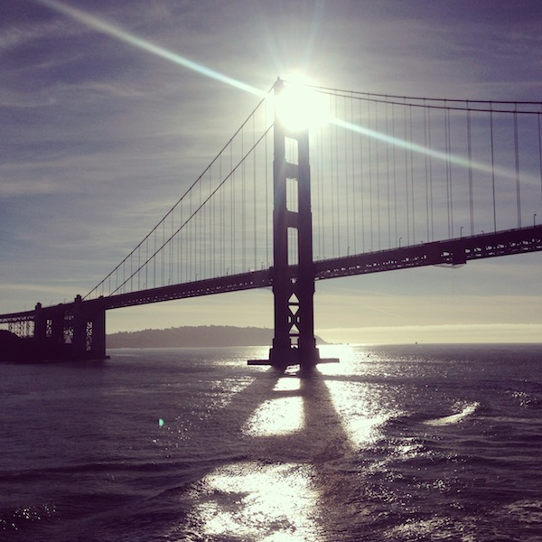 This photo doesn't have anything to do with I'm currently doing but, I loved it.  This was taken on my last inbound transit.  Seriously folks, nothing beats going under the Golden Gate.