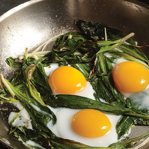 """Cook from the Book: Ramps and Eggs from Buvette"" People April 2014"