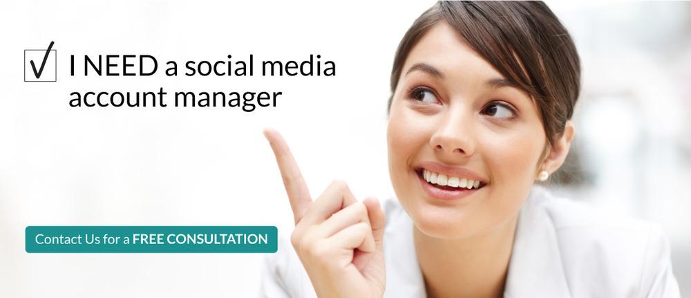 I NEED a social mediaaccount manager