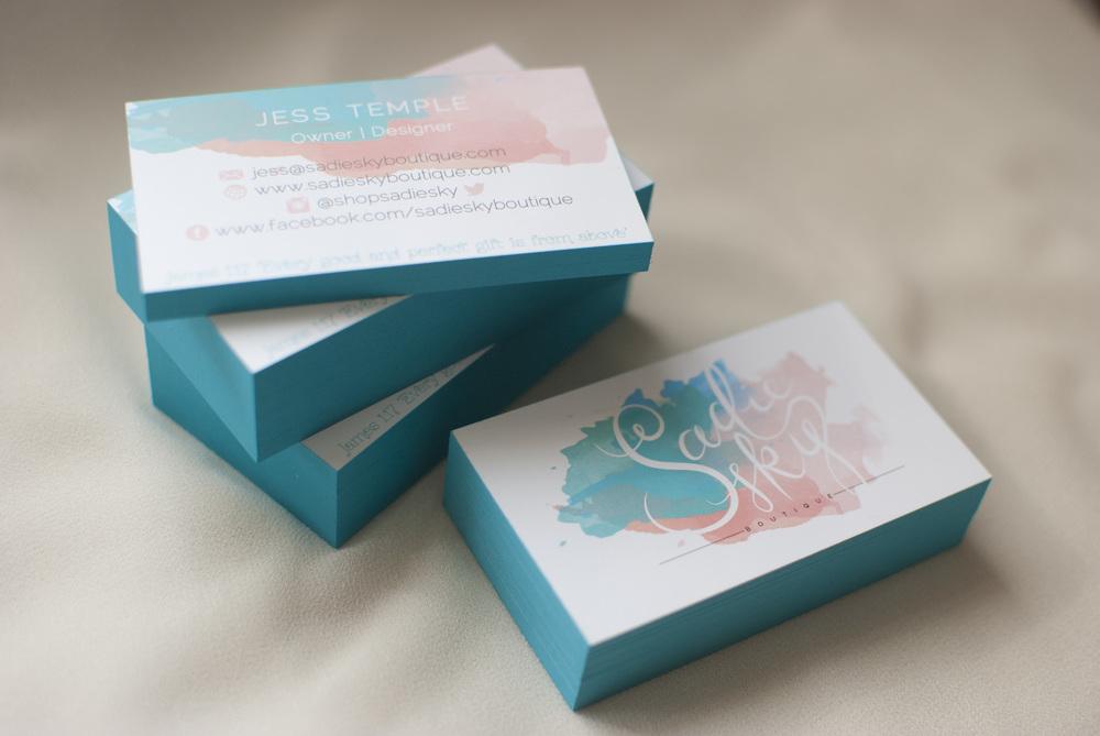 Signature Business Cards Hello Tosha Design Co