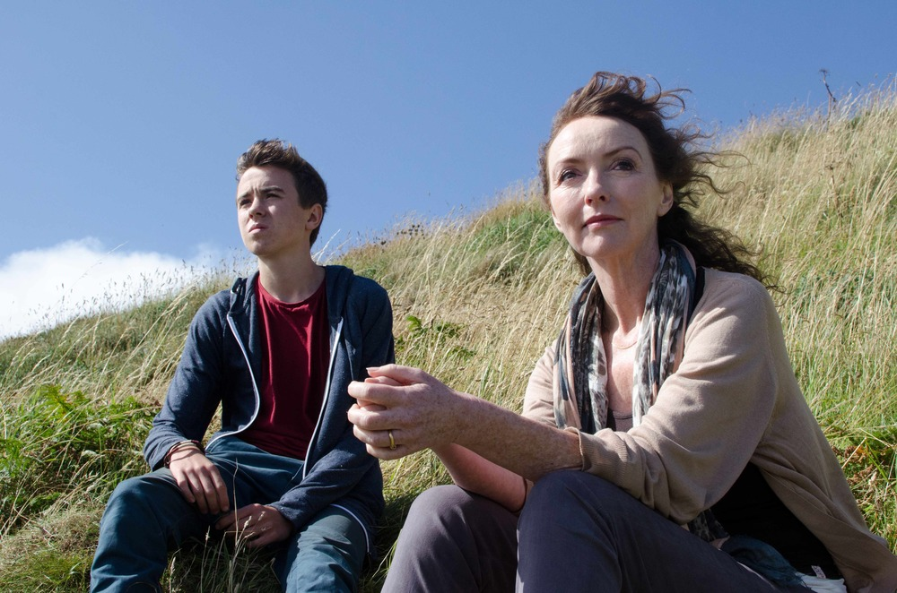 Samuel Davies as Josh and Melanie Walters as Bethan in Long Arm's High Tide,