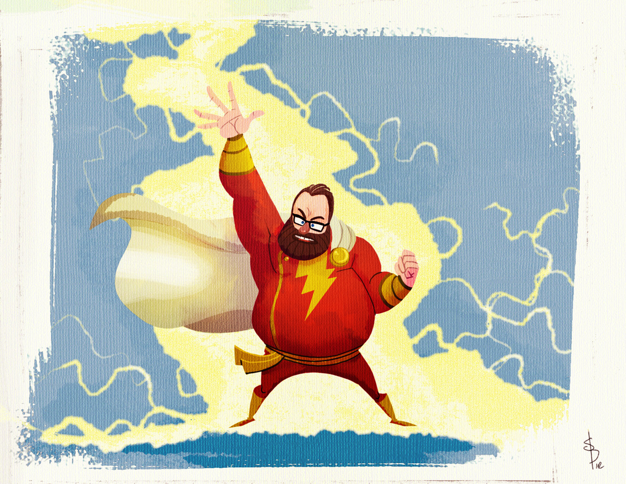 Day 9- You as a superhero- SHAZAM! I get superpowers but my eyesight still stinks go figure:)    http://  4pm-draw-club.tumblr.com/  post/26639983610/  the-daily-drawing-challenge  -part-3-holy-cow