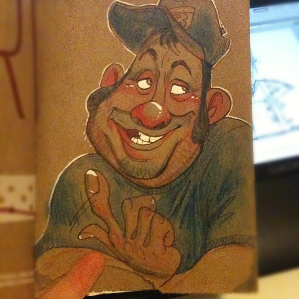Memory sketch - C'mere lemme tell ya sumthin. (Taken with Instagram)