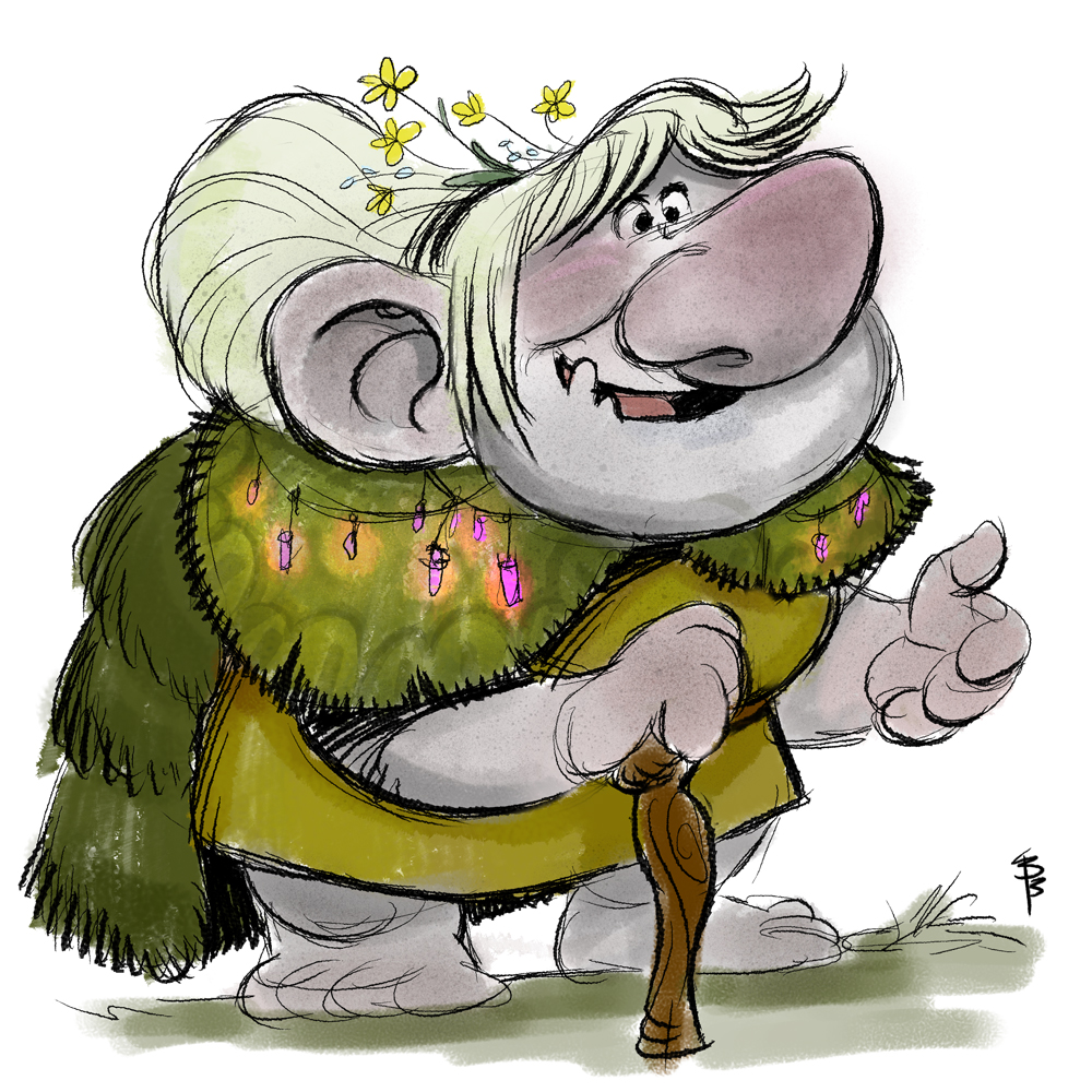 Here is my take on a goofy granny troll from #Frozen. I using brushes from my set https://gumroad.com/l/udPt