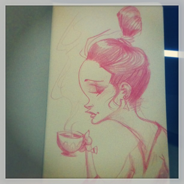 Morning tea #sketch