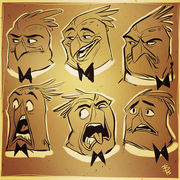1st pass at Flint Hudson's expression sheet.