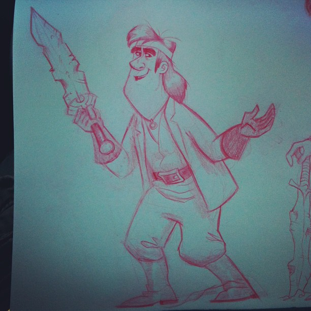 Here's my 1st #sketch for the character Henwyn From the book Goblins
