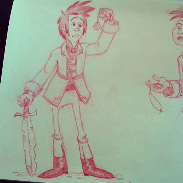 Here's my 3rd #sketch for the character Henwyn From the book Goblins