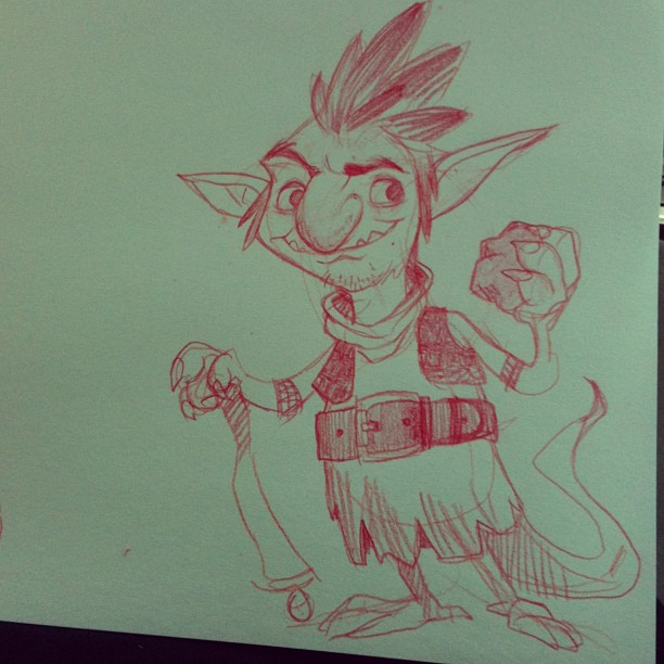 A lil lunch #sketch of a goblin