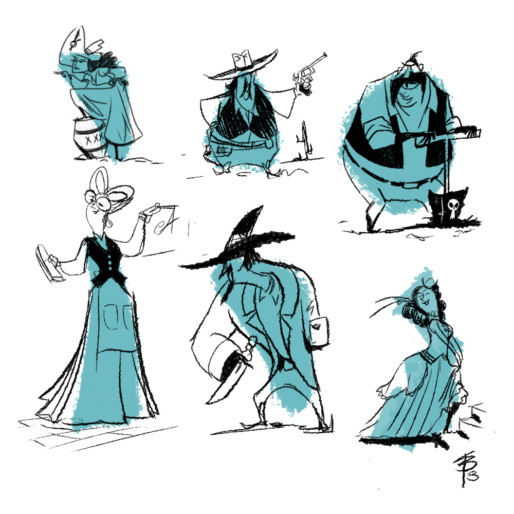 I made a lil brush and goofed around with it on lunch. Here are some of the sketches I came up with.