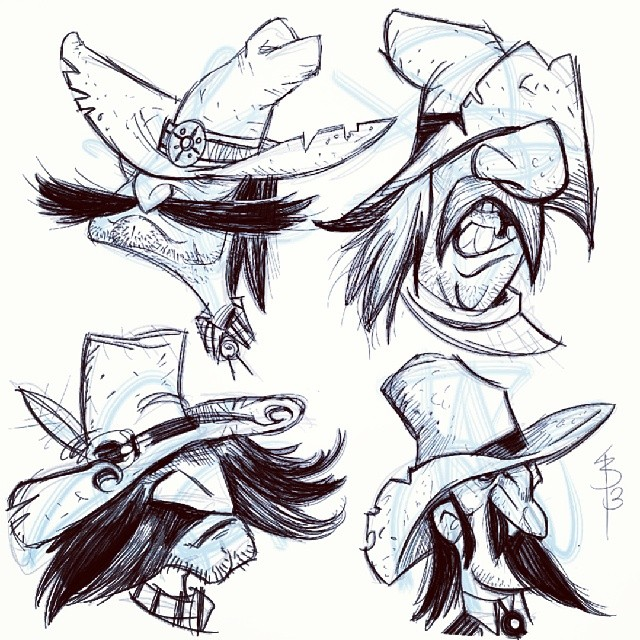 Today's shape #sketches.   Based these rough riders on some weird scribbles.  I hope you all like Cowboys because I am gearing up to make a western sketchbook.