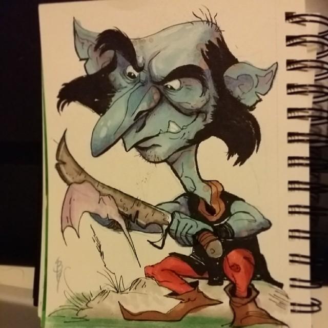 Here's a lil goblin #sketch
