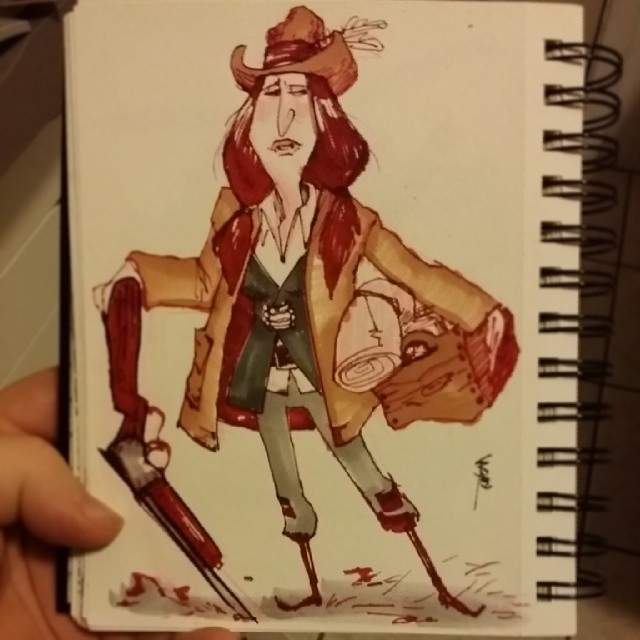 The Copic markers seem a bit dull in comparison.  It works for the western stuff though:)