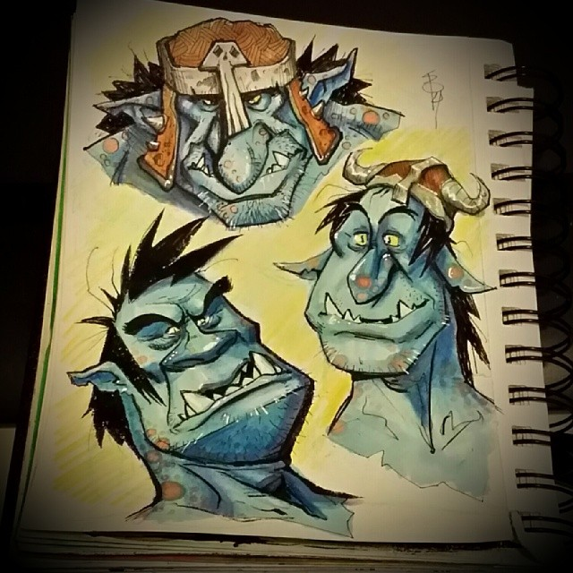 Good mornin:) Here's a few more gobbie #sketches