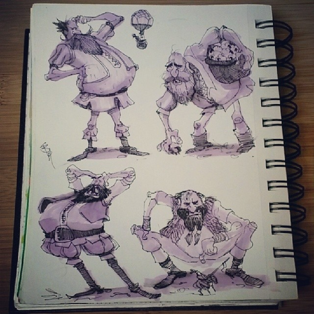 Good morning!  Here are some more goofy giant #sketches