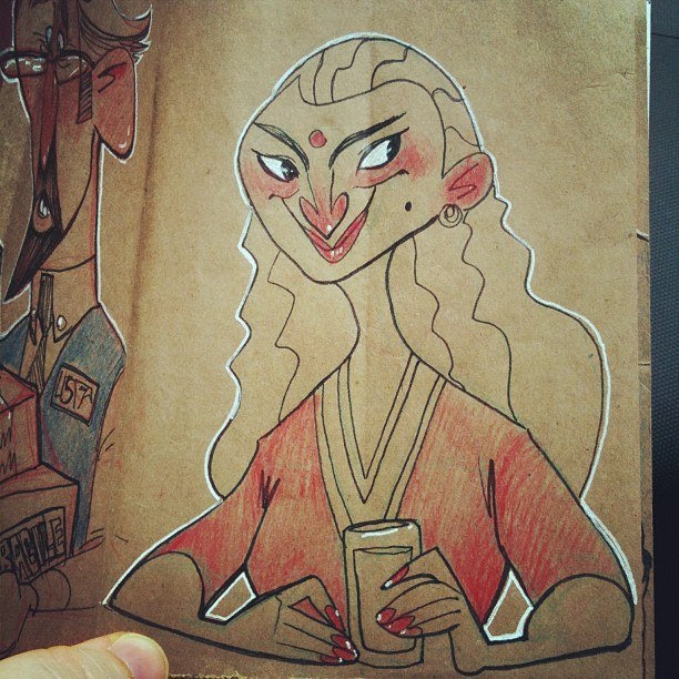 A lil lunch sketch:) (Taken with  Instagram )
