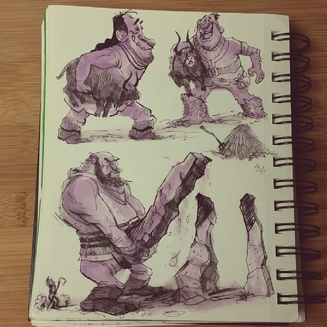 Here are some giant #sketches from last night