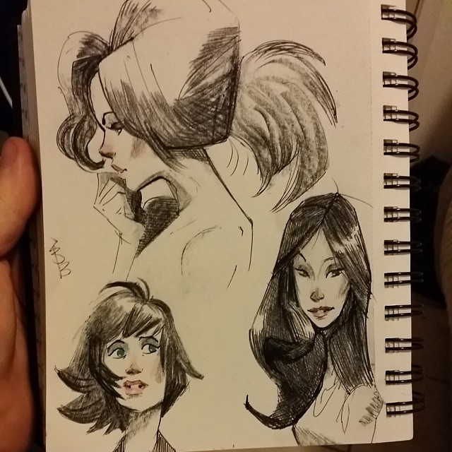 A few more lady #sketches