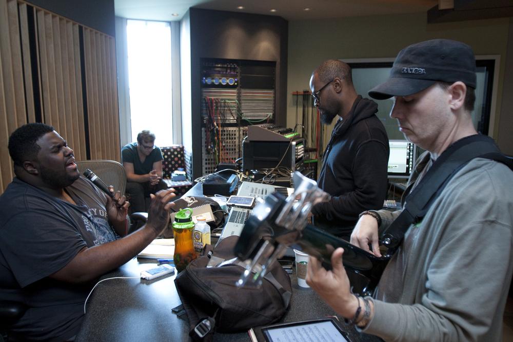 Chinua Hawk & Producers Joseph Patrick Moore & Jamie Portee