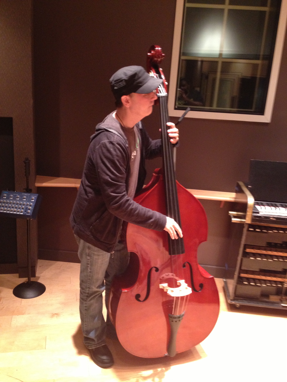 Producer/ Bassist Joseph Patrick Moore on the upright