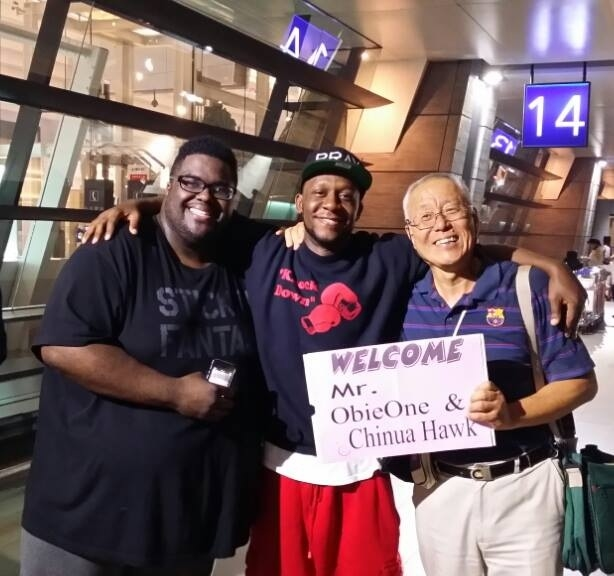 Chinua Hawk arriving in Taiwan