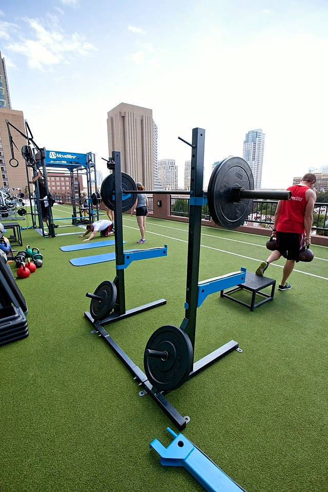 Squat stands outdoor gym