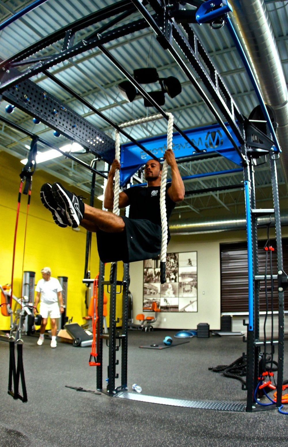 Rope grip pullup