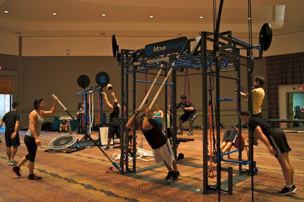 Group fitness training equipment