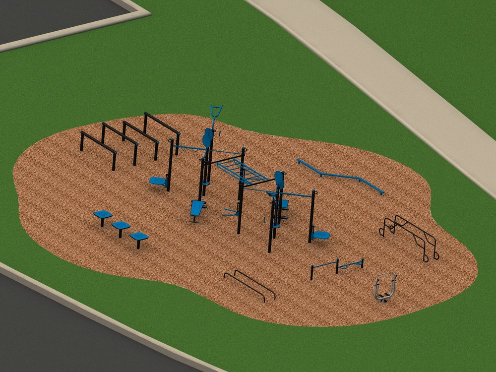 Design support to create the ideal outdoor functional fitness area to fit the size and training options needed