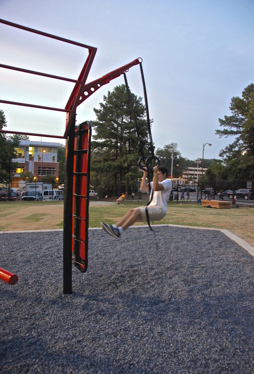 Rings outdoor fitness gym