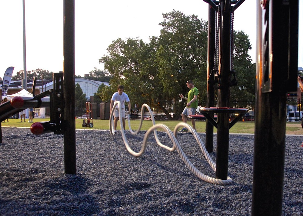 Battle ropes outdoor gym